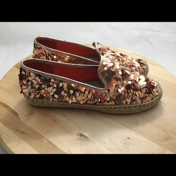 ecf93c4cb33 Tory Burch Mischa Rose Gold Sequin Espadrilles 7. M 5c83950be944ba9125394b57